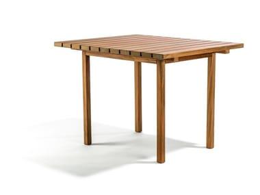 Square teak garden table DJURÖ | Square garden table