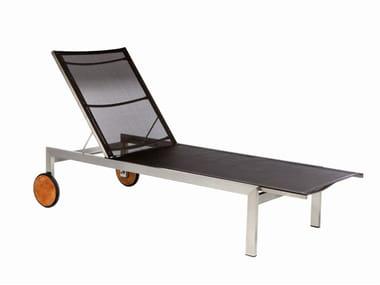 Lettino da giardino reclinabile con ruote ADAMAS | Lettino da giardino in Batyline®