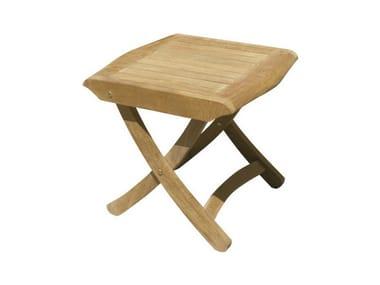 Teak garden pouf / garden side table KAKI