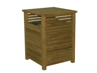 Portarifiuti in legno per esterni TENNIS | Portarifiuti