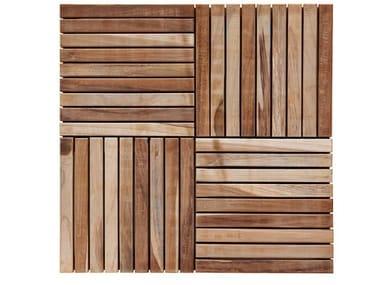 Tiles pavimento per esterni in teak by il giardino di legno