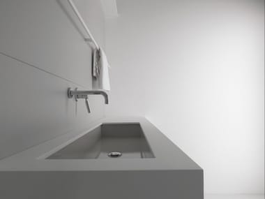 Rectangular undermount steel washbasin INDUSTRIAL LINE | Undermount washbasin