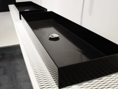 Double plate washbasin countertop INDUSTRIAL LINE | Washbasin countertop