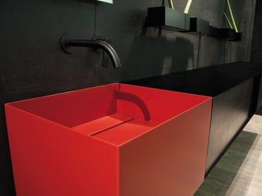 Rectangular plate washbasin ZERO20 | Washbasin
