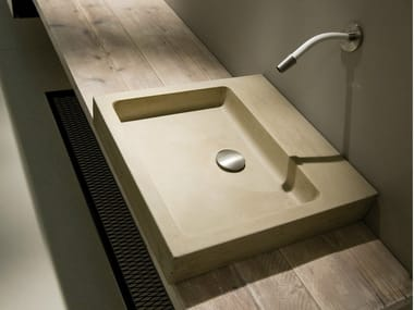 Countertop square single washbasin ELLE | Countertop washbasin