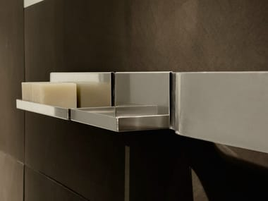 Wall-mounted stainless steel soap dish STRIP | Soap dish