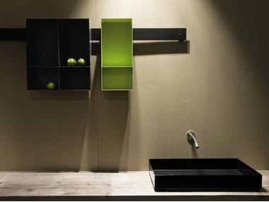 Open suspended steel bathroom wall cabinet STRIP | Bathroom wall cabinet