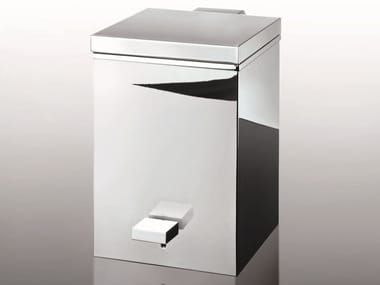 Chrome plated kitchen bin TE 75 | Waste bin