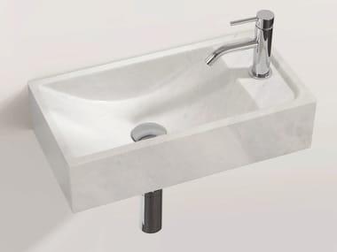 Rectangular wall-mounted natural stone washbasin HWB 1
