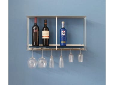 Aluminium bottle rack / wall cabinet Cantinetta