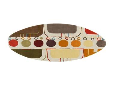 Handmade wool rug SURF MALIBÚ MEDITERRANEO