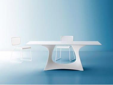Rectangular steel garden table CORAL REEF | Rectangular garden table