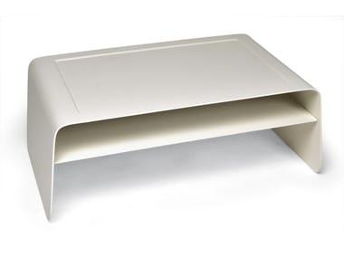 Low Rectangular aluminium garden side table CORAL REEF | Garden side table