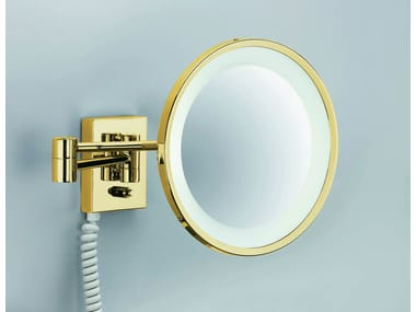 Wall Mounted Shaving Mirror With Integrated Lighting Bs 40 Pl