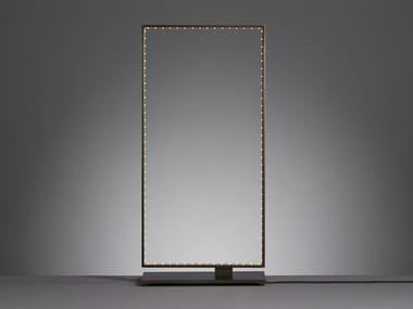 LED direct-indirect light metal table lamp SQUARE 20
