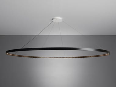 LED direct-indirect light steel pendant lamp OMEGA 200
