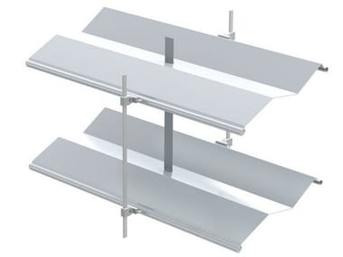 Sliding aluminium solar shading with folding louvers AR 92 Z ECN® | Solar shading