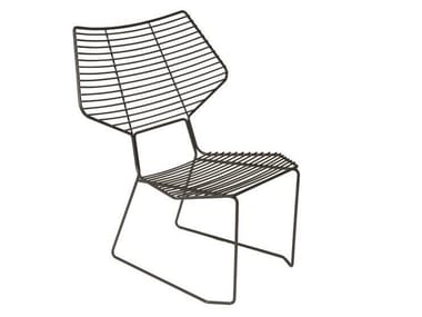Sled base garden metal easy chair ALIENO PEACOCK