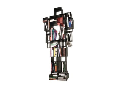 Open double-sided metal bookcase ROBOX