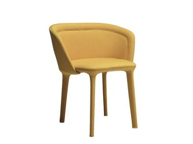 Upholstered chair with armrests LEPEL SMOOTH