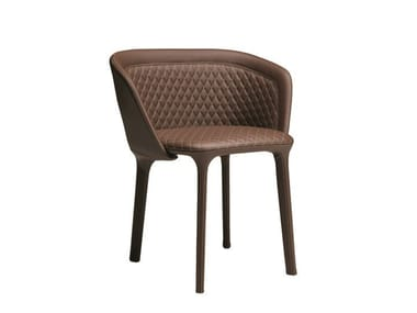 Upholstered chair with armrests LEPEL QUILTED