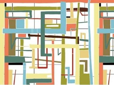 Carta da parati geometrica LABYRINTH