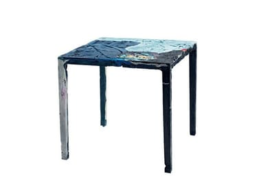 Square fabric table REMEMBER ME BISTROT