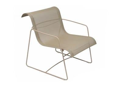 Garden steel easy chair with armrests ELLIPSE   Garden easy chair