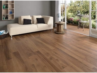 Ecological frost proof wall/floor tiles with wood effect EVOKE BROWN