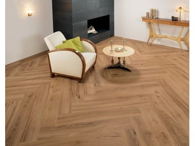 Ecological frost proof wall/floor tiles with wood effect EVOKE BEIGE