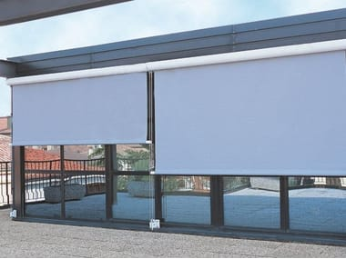 Box roller blind with guide system ROLLBOX 4130
