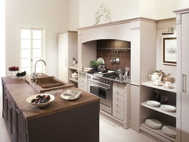 Kitchen In Brushed Wood ENGLISH MOOD