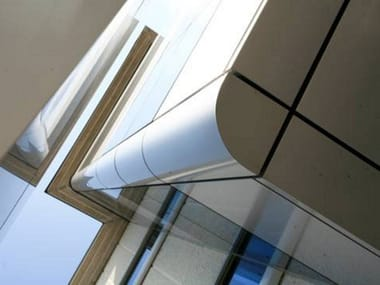 Composite panel in aluminum for continuous facades ETALBOND®