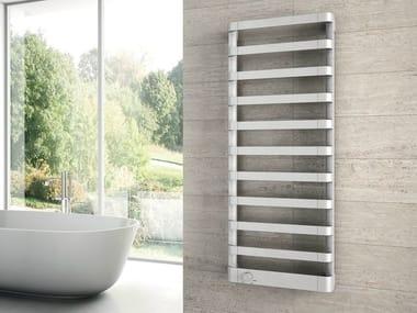 Wall-mounted chrome decorative radiator STEP E