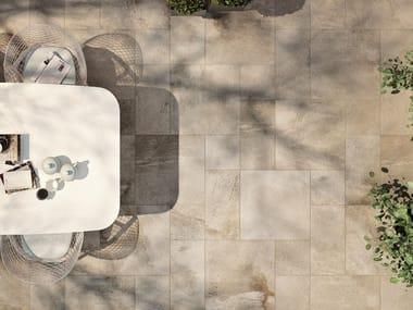 Glazed stoneware outdoor floor tiles STONEWAY_BARGE ANTICA