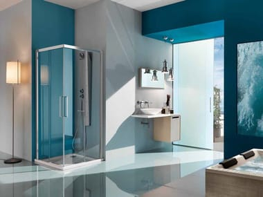Box doccia angolare con porta scorrevole EUROPA SP   Box doccia con porta scorrevole