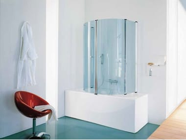 Glass bathtub wall panel ECLISSE
