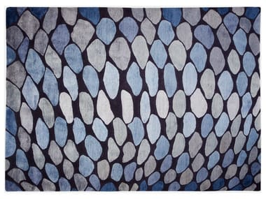 Patterned handmade rug FISH SCALES