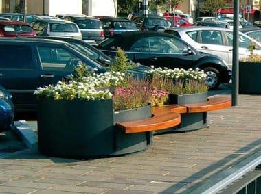 Fioriera per spazi pubblici in acciaio FLÒ   Fioriera per spazi pubblici