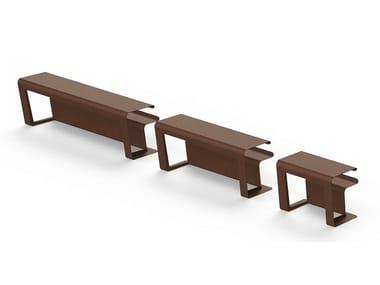 Tavolo da picnic in acciaio Corten™ MERENDA   Tavolo per spazi pubblici