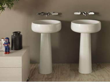 Lavabo con colonna BONOLA 50 | Lavabo freestanding