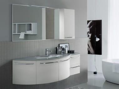 Lacquered Mineralmarmo® vanity unit COMP MFE08