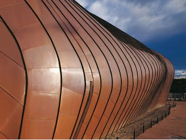 Metal sheet and panel for roof TECU® Classic