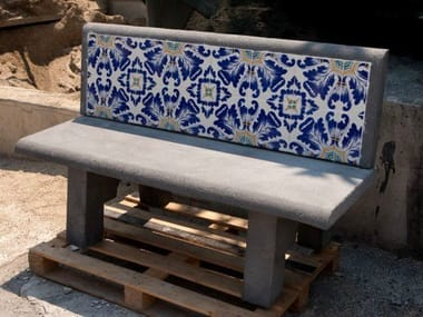 Reinforced concrete Bench with back Bench