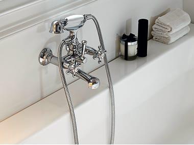 Robinet pour baignoire 2 trous mural AGORÀ | Robinet pour baignoire mural