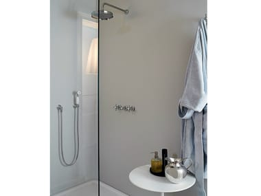 Shower tap with hand shower with overhead shower AGORÀ | Shower tap with hand shower