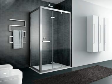 Cabina de ducha rectangulares con puertas plegables QUADRO | Cabina de ducha con puertas plegables