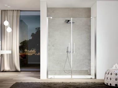 Niche glass shower cabin SLIM SL2P