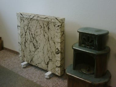 Electric floor-standing decorative radiator Floor-standing decorative radiator