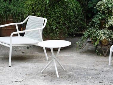 Low Round garden side table TRIO